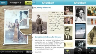 Illustration for article titled Shoebox Digitizes All Your Old Photos with Your iPhone