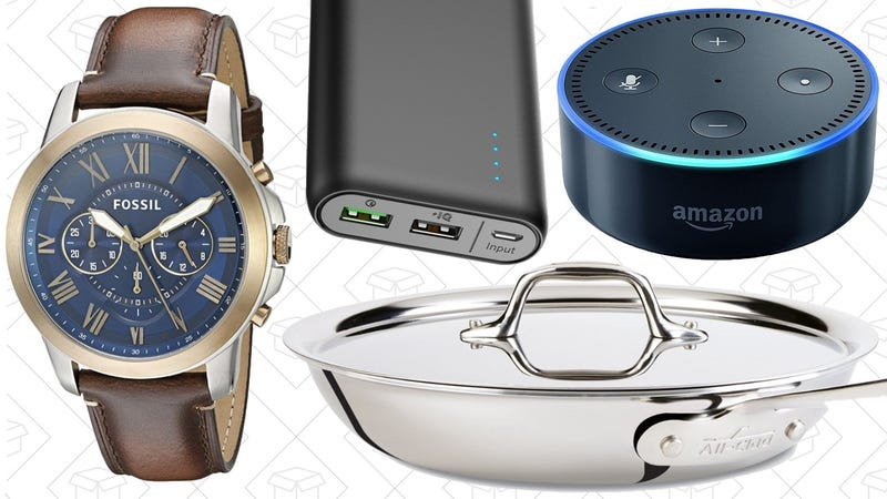 Illustration for article titled Today's Best Deals: All-Clad, Anker, Fossil, and More