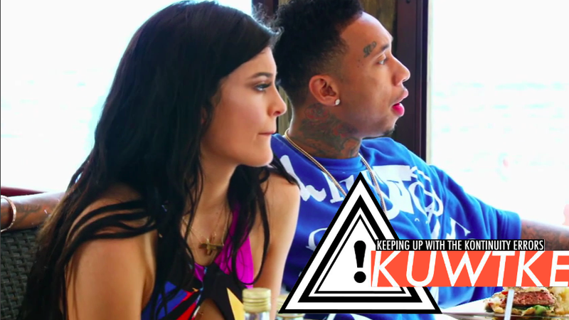 Illustration for article titled Keeping Up With the Kontinuity Errors: Everybody's Annoyed With Kylie and Tyga
