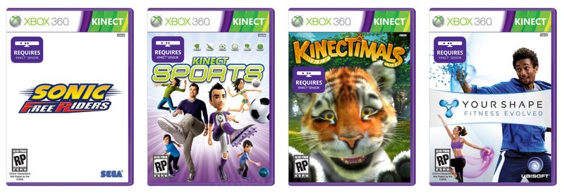 Illustration for article titled Kinect Games Have Their Own Special Boxes