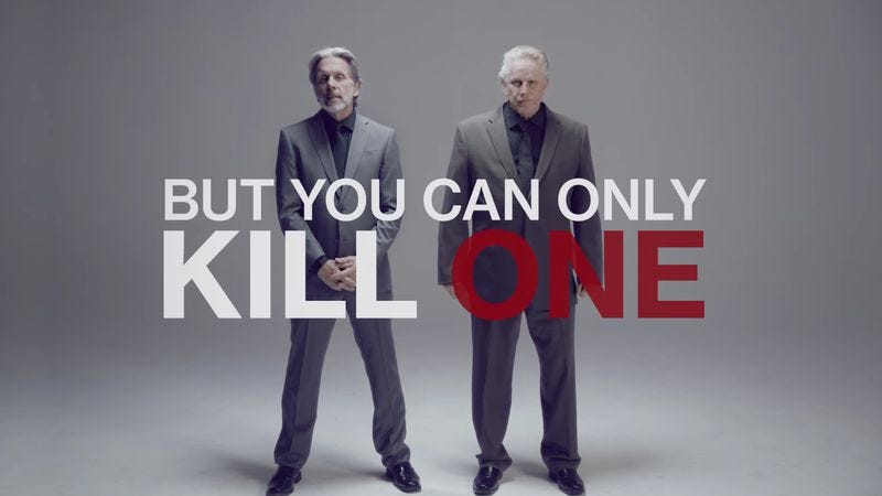 Illustration for article titled Hitman trailer forces you to decide who dies: Gary Cole or Gary Busey