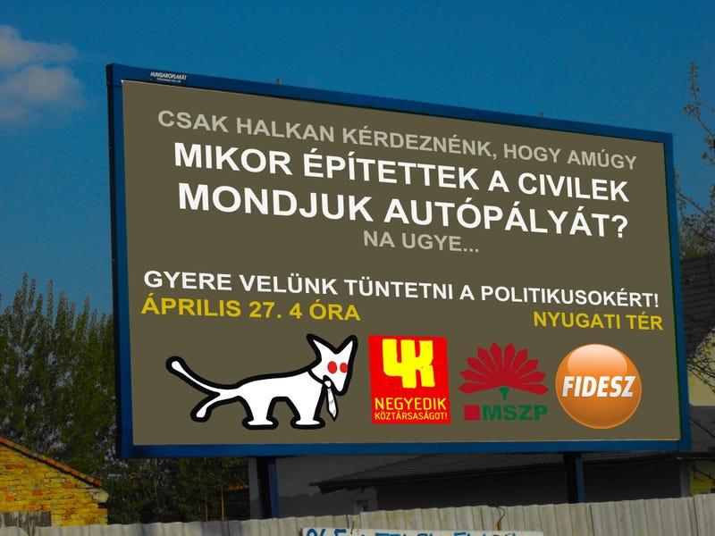 Illustration for article titled Ennyi volt a Fidesznek, szövetkezett a Kétfarkú Kutya, a 4k! és Puzsér Róbert