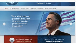 Illustration for article titled Romney Staffers Publish Sad Victory Website by Mistake