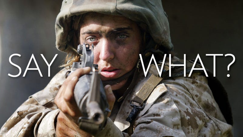 Illustration for article titled The Most Batshit Reactions to Women in Combat