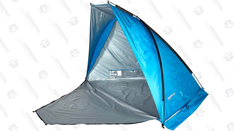 AmazonBasics Beach tent with Poles | $24 | Amazon | Prime members only