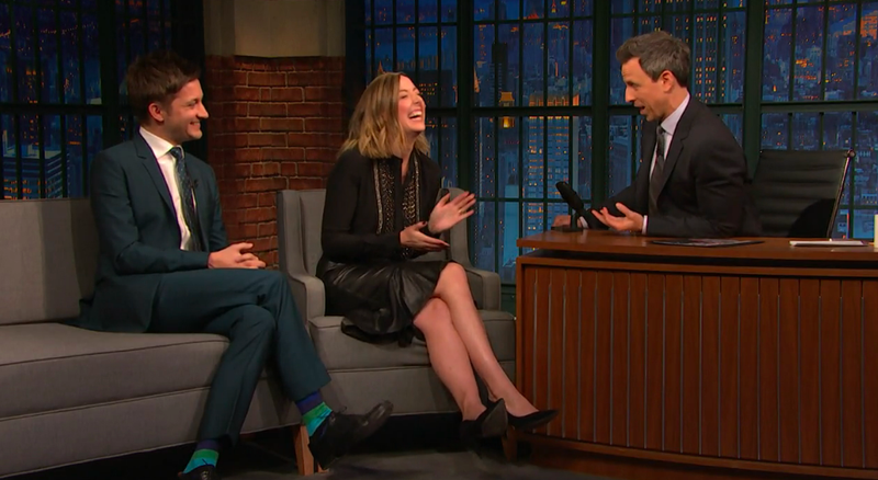 Chris Kelly, Sarah Schneider, Seth Meyers