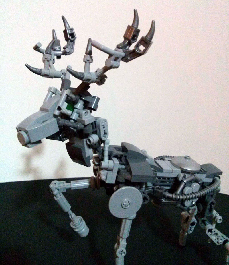 Illustration for article titled Robot stag is a terrifying alternate build for the Lego Exo-Suit