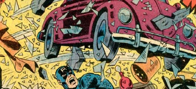 Illustration for article titled That Time Captain America Fought A Volkswagen Beetle