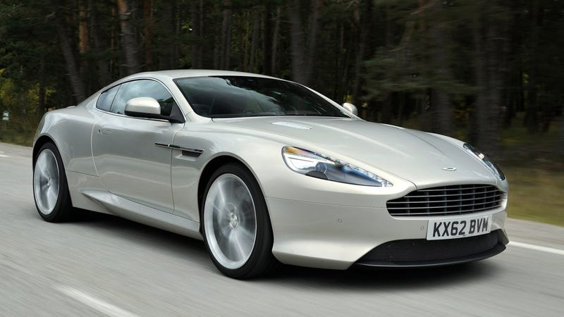 Photo of a generic Aston Martin DB9 credit: Aston Martin. Not the exact car in question, but you get the idea. It is very pretty and very, very expensive.