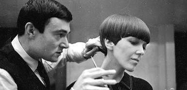 """Illustration for article titled Vidal Sassoon's """"Liberated"""" Hair Often Came With Tears"""