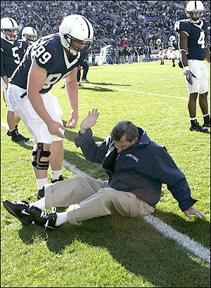 Illustration for article titled Another Downfall  Of Joe Paterno's Old Age: Rampant Thuggery
