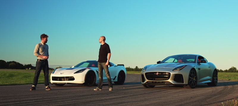 Illustration for article titled Is The Jaguar F-Type SVR Good Enough To Take Down The Corvette Grand Sport?