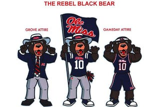 Illustration for article titled Why Did Ole Miss Pick A Louisiana Black Bear As Their New Mascot?