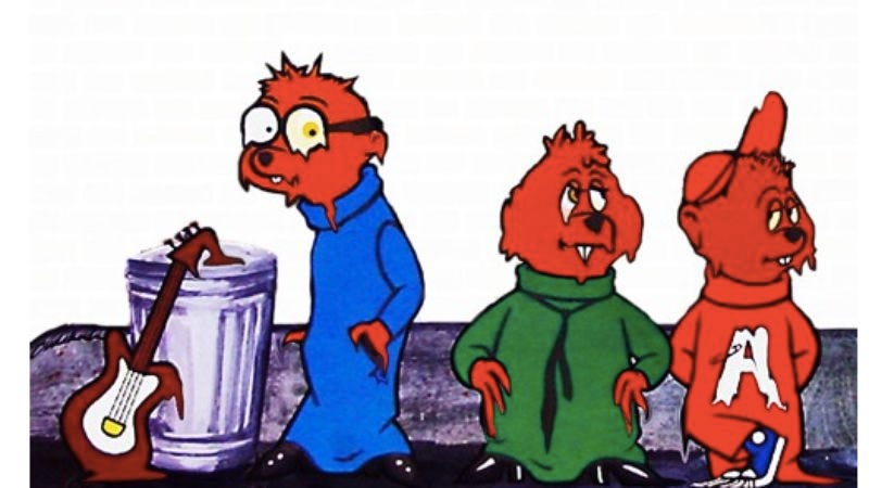 Illustration for article titled The slowed-down Chipmunks are both brilliant and terrifying