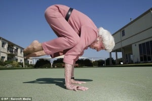 "Illustration for article titled Yoga Granny Strikes A Pose • Michelle: Bo Is Doggone ""Crazy"""