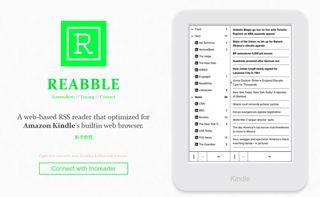 Illustration for article titled Reabble is RSS reader for Kindle