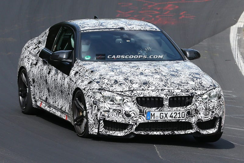 Illustration for article titled New BMW M3 Sedan and M4 Coupe Spied At The Ring