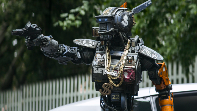 Chappie, from Chappie. It was a weird movie.