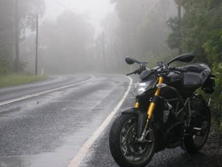 Not my bike or photo, but accurate depiction of the weather!