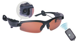 Illustration for article titled Spy Camera Sunglasses With 1.3-Megapixels Means Nothing's a Secret