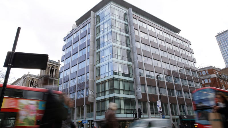 Cambridge Analytica's UK offices at 55 New Oxford Street, London, on the second floor.