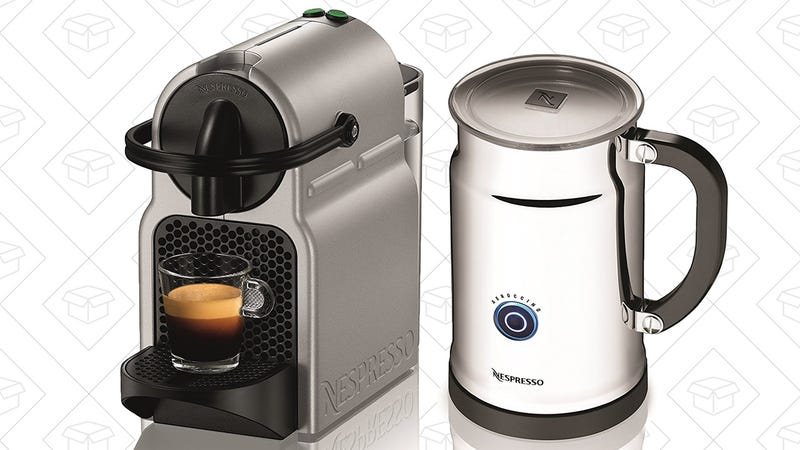 Nespresso Inissia C40 Bundle with Milk Frother, $93