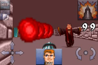 Illustration for article titled World's First Hands On With iPhone's Wolfenstein 3D