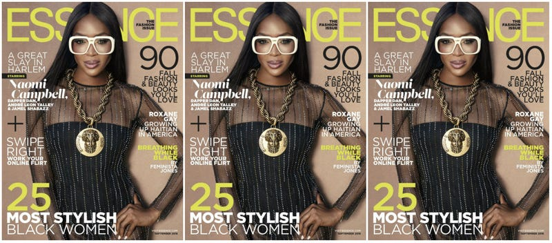 Naomi Campbell covers the September issue of Essence magazine