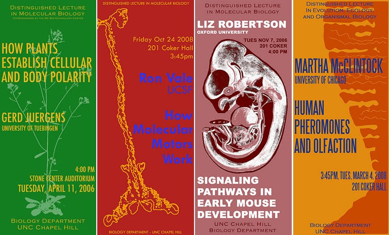 Biology Rocks with Concert Posters for Academic Lectures