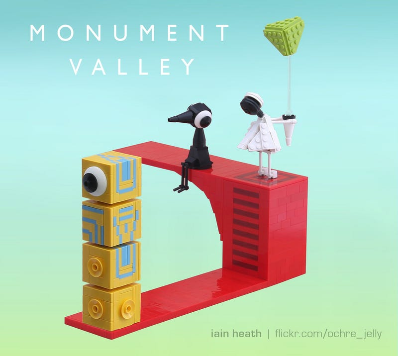 Illustration for article titled Monument Valley In Lego