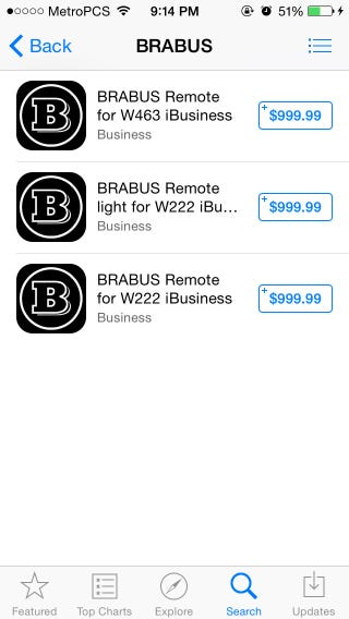 Illustration for article titled Brabus Apps on the App Store