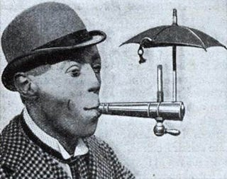 Illustration for article titled Cigarette Umbrella Keeps Tobacco Torch Dry