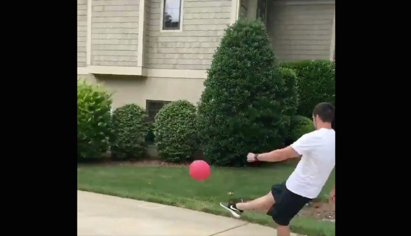 Illustration for article titled NFL Kicker Graham Gano Brings His Family Kickball Game To A Satisfying End