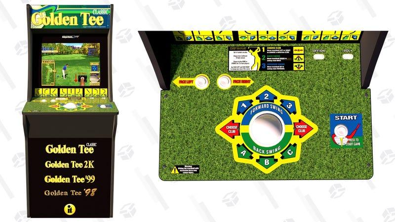 Arcade1Up Golden Tee Cabinet + Bonus Riser | $450 | Walmart