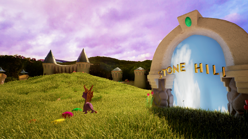 Illustration for article titled The First Stage of Spyro the Dragon In Unreal Engine 4