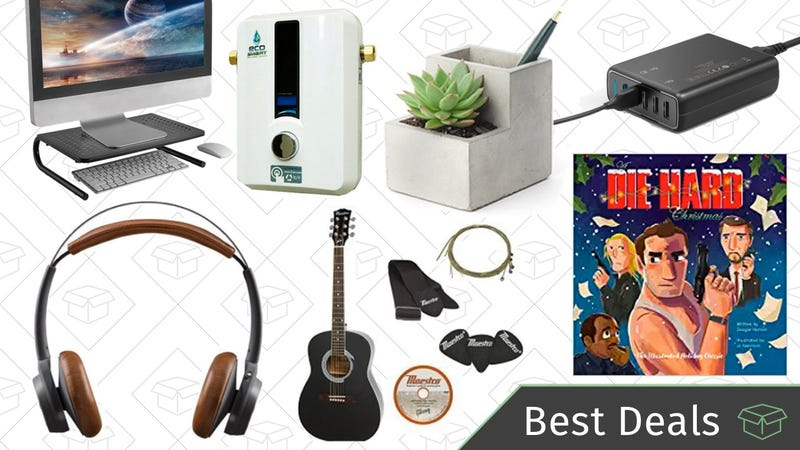 Illustration for article titled Wednesday's Best Deals: Tankless Water Heaters, Fender Guitar Sale, Wireless Headphones, and More