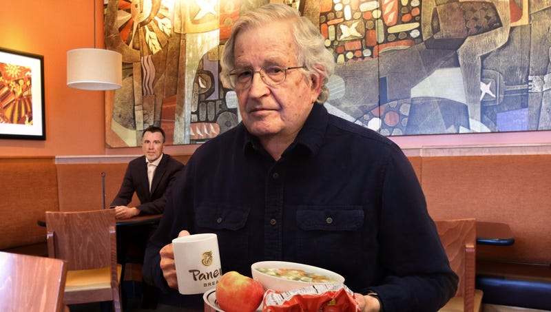Illustration for article titled FBI Agent Still Tasked With Following Noam Chomsky Around Prepares For Another Day In Local Panera