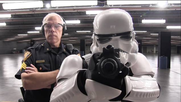 stormtrooper tries out for the force in texas police recruitment video