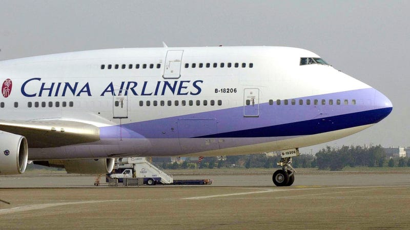 A China Airlines Beijing Boeing 747-400 at Chiang Kai-shek International airport in Taoyuan, Taiwan.
