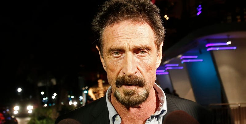 John McAfee in a file photo from 2012 (Associated Press)