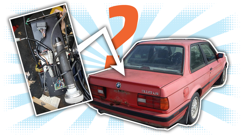 Illustration for article titled What The Hell Is This Mystery Contraption Found In A Used BMW?