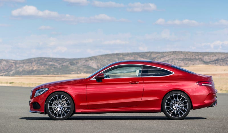 the 2017 mercedes c-class coupe is long as hell