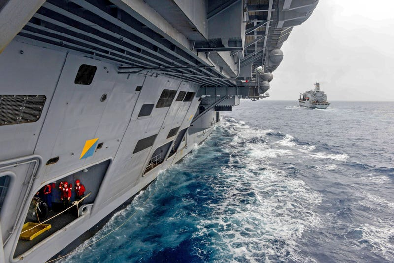 Illustration for article titled This Shot Makes A Nimitz Class Super Carrier Look Like A Star Destroyer
