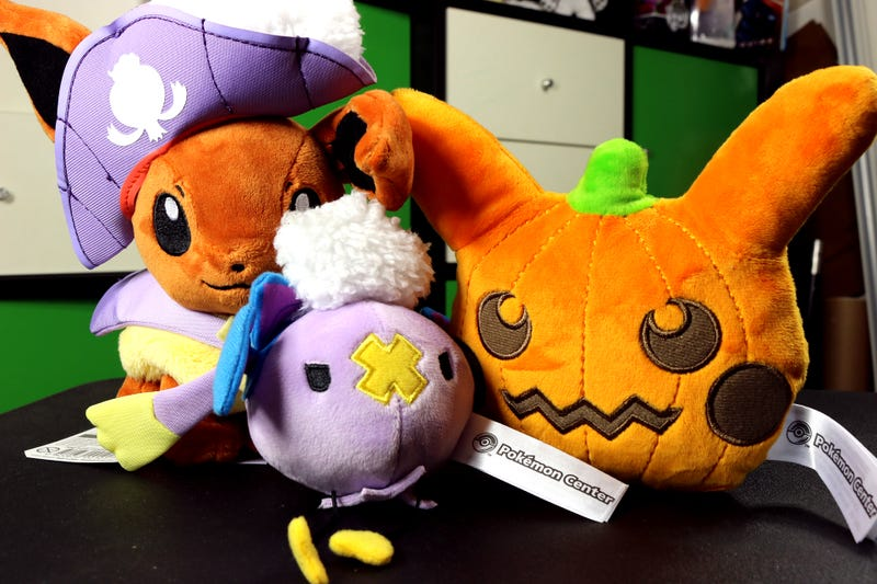 its halloween the festive holiday when pokmon toys dress up in costumes and sit on my desk until at least christmas the pokmon centers line of