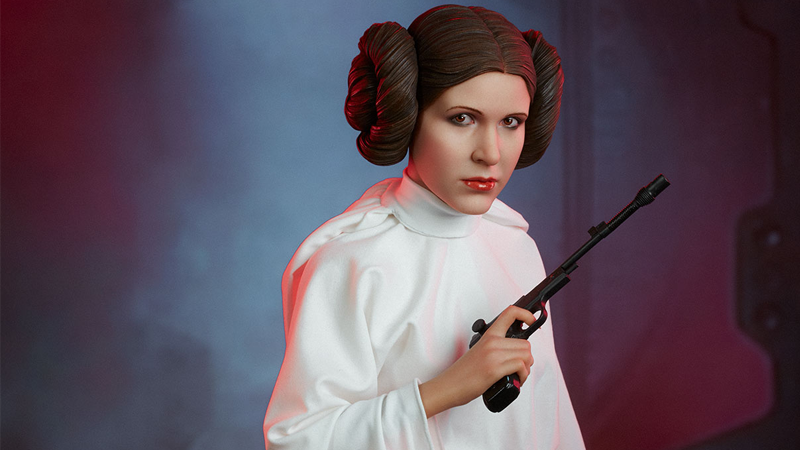 Sideshow's Premium Format Leia has you in her sights—and her blaster is not set to stun.