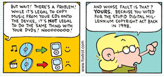 Illustration for article titled Foxtrot Comic Takes On DRM