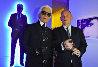 Illustration for article titled Karl Lagerfeld Will Let Only Nobu's Creations Touch His Rarefied Lips