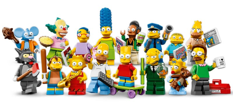 Illustration for article titled The New 16 Lego Simpsons Minifigs Are Awesome And I Want Them All