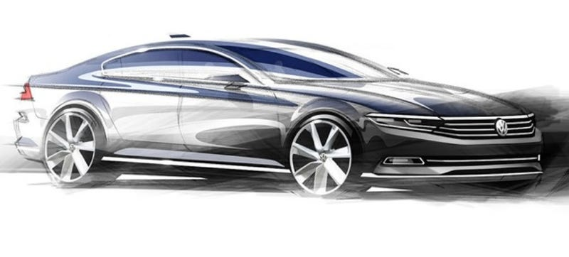Illustration for article titled This Is What The Next VW Passat Will Look Like For Everyone Else