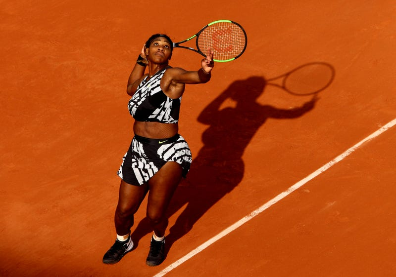 Serena Williams during Day two of the 2019 French Open at Roland Garros on May 27, 2019 in Paris, France.